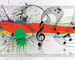 Grunge-Hintergrund mit Noten - Royalty-Free Clipart
