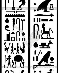 Nahtlose Hieroglyphen - Clipart-Bild