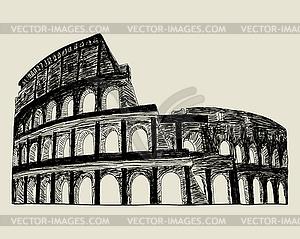 Römischen Kolosseum - Vektor-Clipart EPS