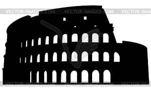 Römischen Kolosseum Silhouette - Vektor-Illustration