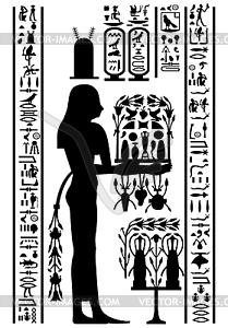 ägyptischen Hieroglyphen und Fresko - Vektorgrafik-Design