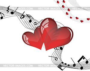 St. Valentine `s Day Card - Stock Vektor-Bild