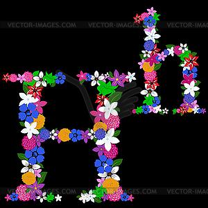Blumen-Brief - Vektorgrafik-Design