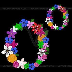 Blumen-Brief - vektorisiertes Design