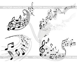 Musiknoten - Vektor-Clipart / Vektor-Bild