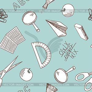 Nahtloser Schulhintergrund - Clipart-Design