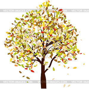 Herbst Eiche - Stock Vektorgrafik