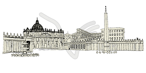 Vatikan Skizze - Vektorabbildung