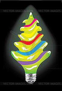Glühbirne als Weihnachtsbaum - Clipart-Bild