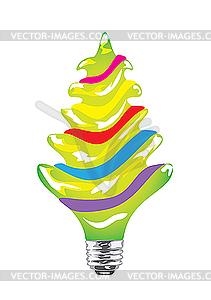 Glühbirne als Weihnachtsbaum - Clipart-Design