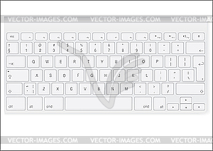 Weiße Tastatur - Vector-Illustration