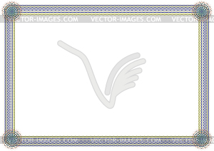 Guilloche-Rahmen - Vector-Clipart EPS