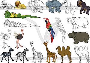 Set von afrikanischen Tieren - vektorisiertes Clip-Art