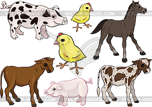 Set von Babys-Nutztieres - Clipart-Design