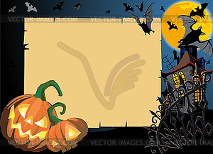 Halloween-Karte mit Rolle-Rahmen - Stock-Clipart