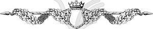Titel des Formulars im viktorianischen Stil - Clipart-Bild