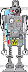 Reto Spaß-Roboter - Vektor-Clipart EPS