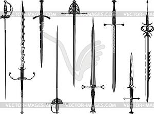 Set von Schwertern - Vector-Bild