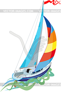 Segeln - Segelyacht - Vector-Illustration