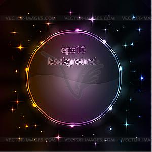 Abstrakter Hintergrund mit leuchtenden Elementen - Vektorgrafik-Design