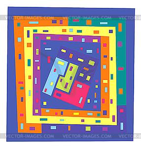 Abstrakte geometrische Muster - Vektorgrafik-Design