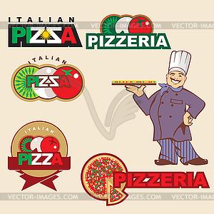 Pizza-Logo - Vektor-Clipart / Vektorgrafik
