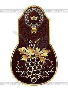Goldenen Rahmen für die Wein - Royalty-Free Clipart