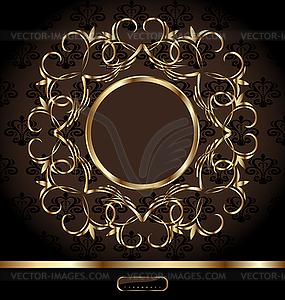 Königliche Hintergrund mit goldenen verzierten Rahmen - Vektorgrafik-Design