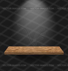 Jahrgang tapezierte Zimmer mit hellen Holzmöbeln Regal - Vector-Clipart EPS