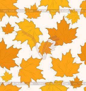 Herbstliche Ahornblätter, nahtloser Hintergrund - Clipart-Bild