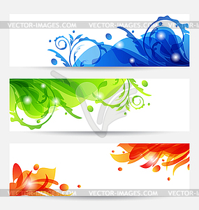 Set brochure templates with flower frames - vector clip art: vector-images.com/clipart/clp382578