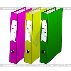 Three office folders - vector clipart