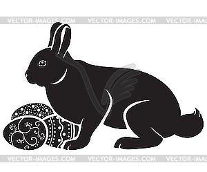 Osterhasen und Eier - Clipart-Design