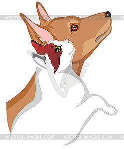 Katze und Hund - Vector-Clipart EPS