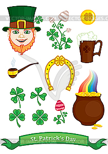 Symbole von St. Patrick`s Day - Vector-Design