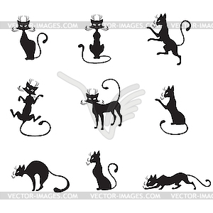 Schwarze Katze  - Stock Vektor-Clipart