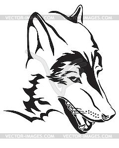 Wolfskopf - Vector-Clipart EPS