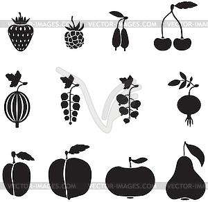 Obst und Beeren - Klipart