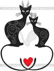 Paar Katzen - Stock Vektor-Bild