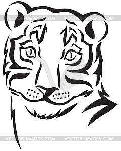 Kopf des Tigers - Vektorgrafik
