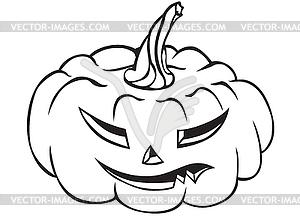 Lustige Halloween-Kürbisse - vektorisiertes Bild