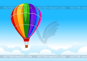 Ballon im Himmel - Clipart