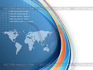 Heller Business-Hintergrund mit Weltkarte - Vector-Design