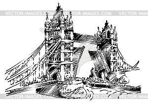 Brücke von London Tower - Vektor-Klipart