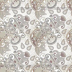 Nahtloser floraler Paisley-Hintergrund - Clipart-Bild