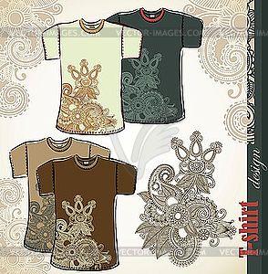 T-Shirt-Designs mit Blumenmuster - Vektor-Design
