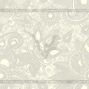 Nahtloser floraler Paisley-Hintergrund - Vector-Clipart EPS