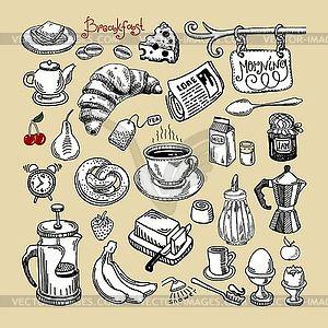 Morgen Frühstücks-Set - Vector-Design