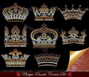 Set von heraldischen Kronen - Vector-Clipart / Vektor-Bild
