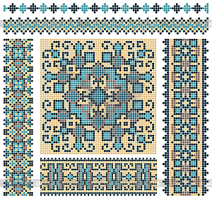 Ukrainisches Kreuzstich-Muster - Vector-Design